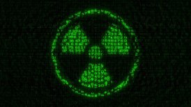Nuclear - Radioactive Sign - Digital Data Code Matrix - motion graphic