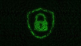Internet Security - Digital Data Code Matrix - motion graphic
