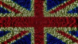 Cyber UK Flag - Digital Data Code Matrix