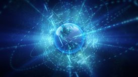 Global Communication In Cyberspace.  - motion graphic