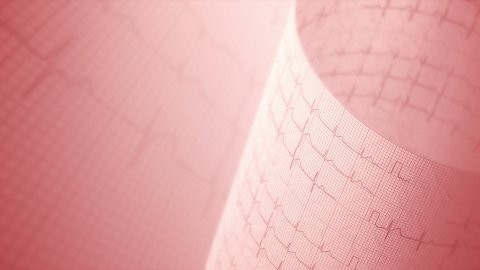 Heart rate, medical background. - stock footage