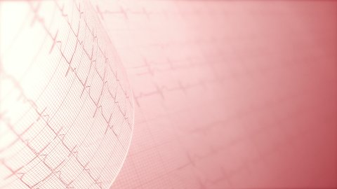 Heart rate, electrocardiogram, ECG medical background. LOOP. - stock footage