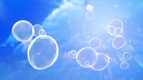 Soap Bubbles Sky Background (Loop) - stock footage