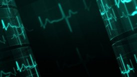Heart rate, ECG. LOOP. - motion graphic