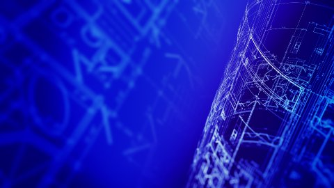 CAD Blueprints - stock footage