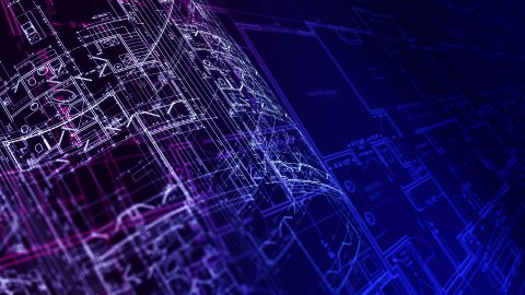 Architecture Blueprints. Loop. - stock footage
