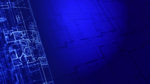 House Plans. Architecture Blueprints. Loop. - stock footage