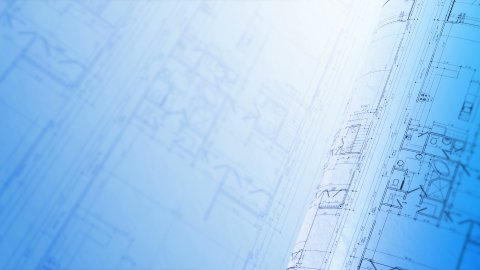 Construction Plans Background, Loop. - stock footage