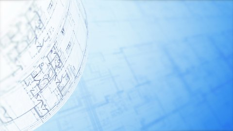Floor Plan. Architectural Plans Background, Architecture Blueprints. Loop. - stock footage