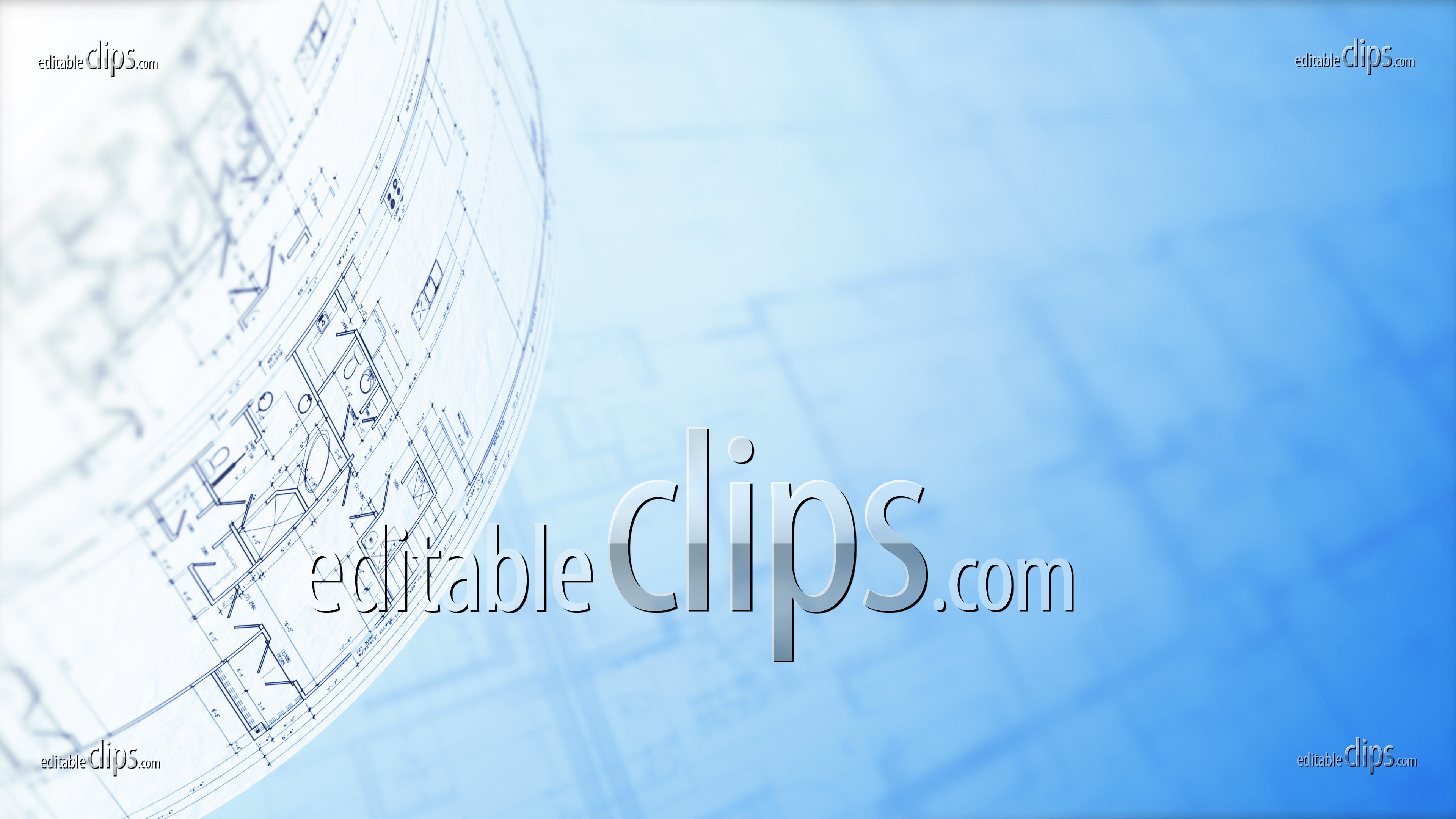 Floor Plan Architectural Plans 4k Editable Clips