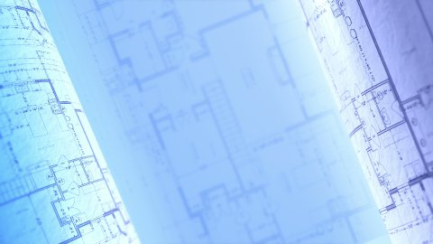 CAD project. Architectural Plans Background, Architecture Blueprints. Loop. - stock footage