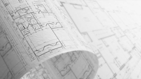 Architectural Plans Background, Seamless Loop. - stock footage