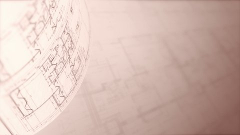 Architectural Plans Background, Loop. - stock footage