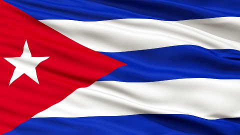 Close Up Waving National Flag of Cuba - stock footage