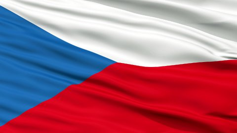 Close Up Waving National Flag of Czech Republic - stock footage