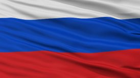 Close Up Waving National Flag of Russia