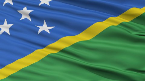 Close Up Waving National Flag of Solomon Islands - stock footage