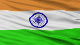 Close Up Waving National Flag of India - motion graphic
