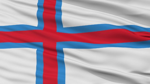 Close Up Waving National Flag of Faroe Islands - stock footage