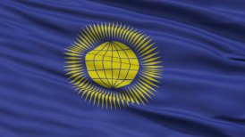 Close Up Waving National Flag of United Commonwealth