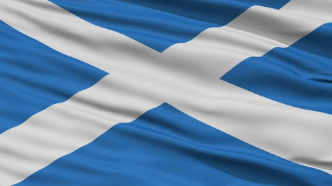 Close Up Waving National Flag of Scotland - stock footage