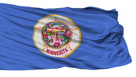 Isolated Waving National Flag of Minnesota - stock footage