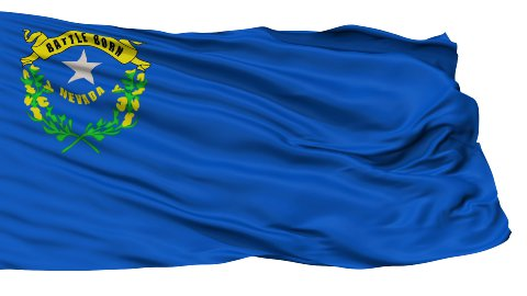 Isolated Waving National Flag of Nevada - stock footage