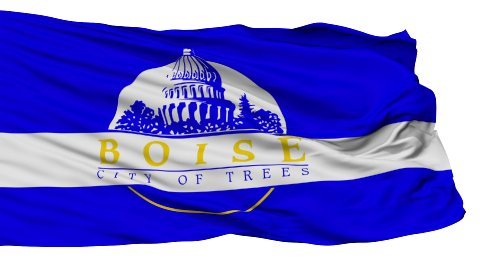 Isolated Waving National Flag of Boise City - stock footage