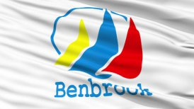 Close Up Waving National Flag of BenBrook City
