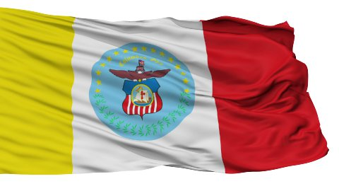 Isolated Waving National Flag of Columbus City - stock footage