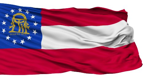 Isolated Waving National Flag of Georgia - stock footage