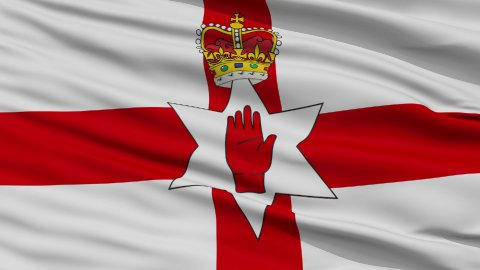 Close Up Waving National Flag of Northern Ireland - stock footage