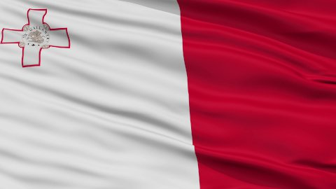 Close Up Waving National Flag of Malta - stock footage