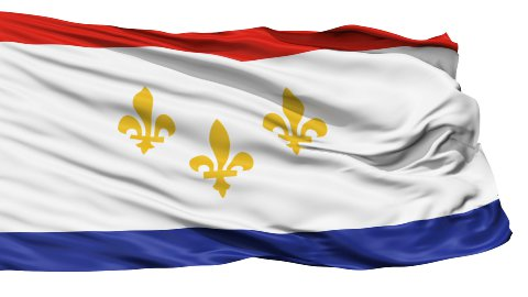 Isolated Waving National Flag of New Orleans City - stock footage