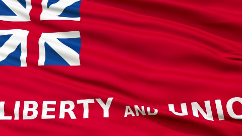 Close Up Waving National Flag of Taunton City - stock footage