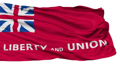 Isolated Waving National Flag of Taunton City - stock footage