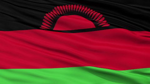 Close Up Waving National Flag of Malawi - stock footage