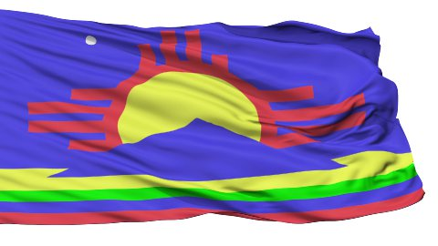 Isolated Waving National Flag of Roswell City - stock footage