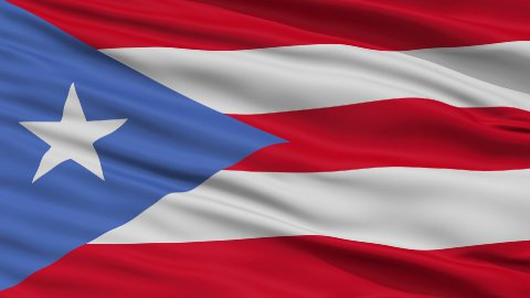 Close Up Waving National Flag of Puerto Rico - stock footage