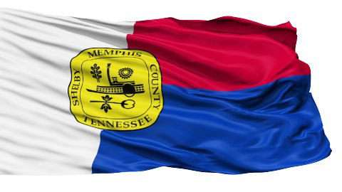 Isolated Waving National Flag of Memphis City - stock footage