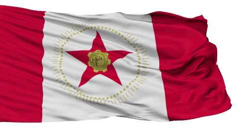 Isolated Waving National Flag of Birmingham City - stock footage