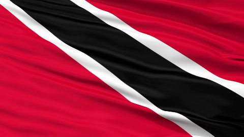 Close Up Waving National Flag of Trinidad and Tobago - stock footage