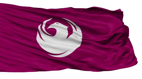 Isolated Waving National Flag of Phoenix City - stock footage