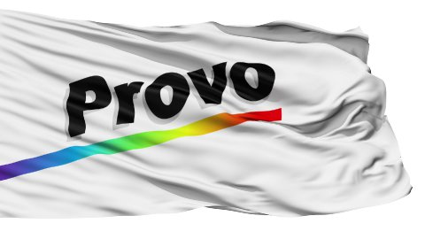 Isolated Waving National Flag of Provo City - stock footage