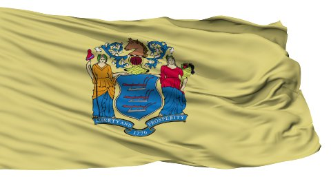 Isolated Waving National Flag of New Jersey - stock footage