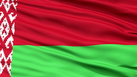 Close Up Waving National Flag of Belarus - stock footage