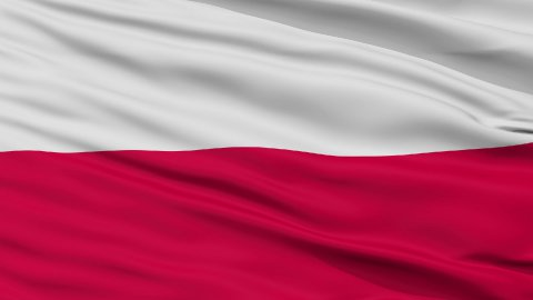 Close Up Waving National Flag of Poland - stock footage