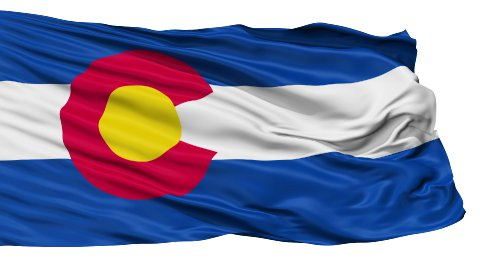 Isolated Waving National Flag of Colorado - stock footage