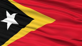 Close Up Waving National Flag of East Timor