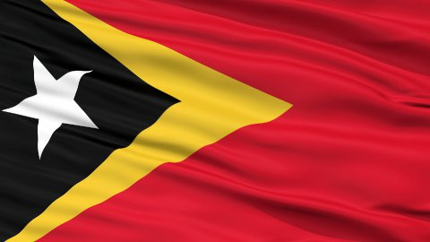 Close Up Waving National Flag of East Timor - stock footage